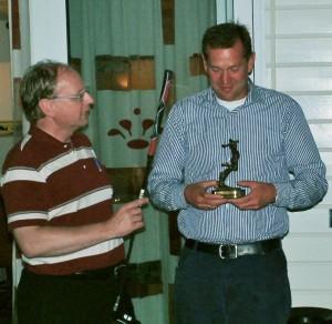 Onno Pietersma winning the Hans Minnee Challenge Trophy